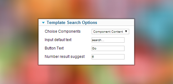 template search option
