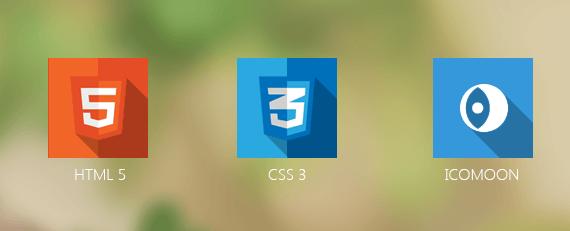 HTML 5, CSS 3, ICOMOON