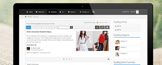 responsive joomla 3 template supports easyblog