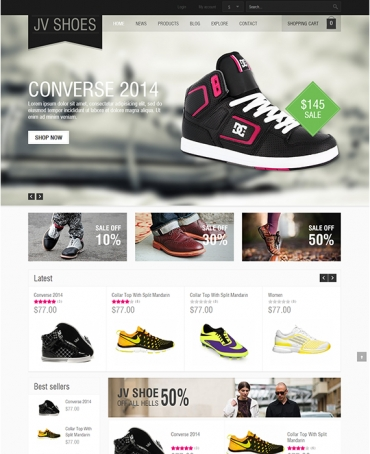 JV Shoes -  Joomla Template for Shoes shop