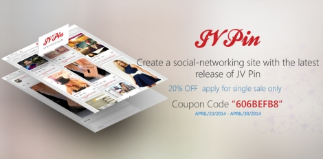 Create a social-networking site with 20% OFF!