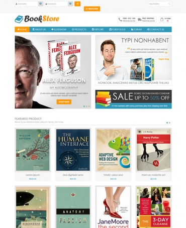 JV Bookstore - Book store Joomla template